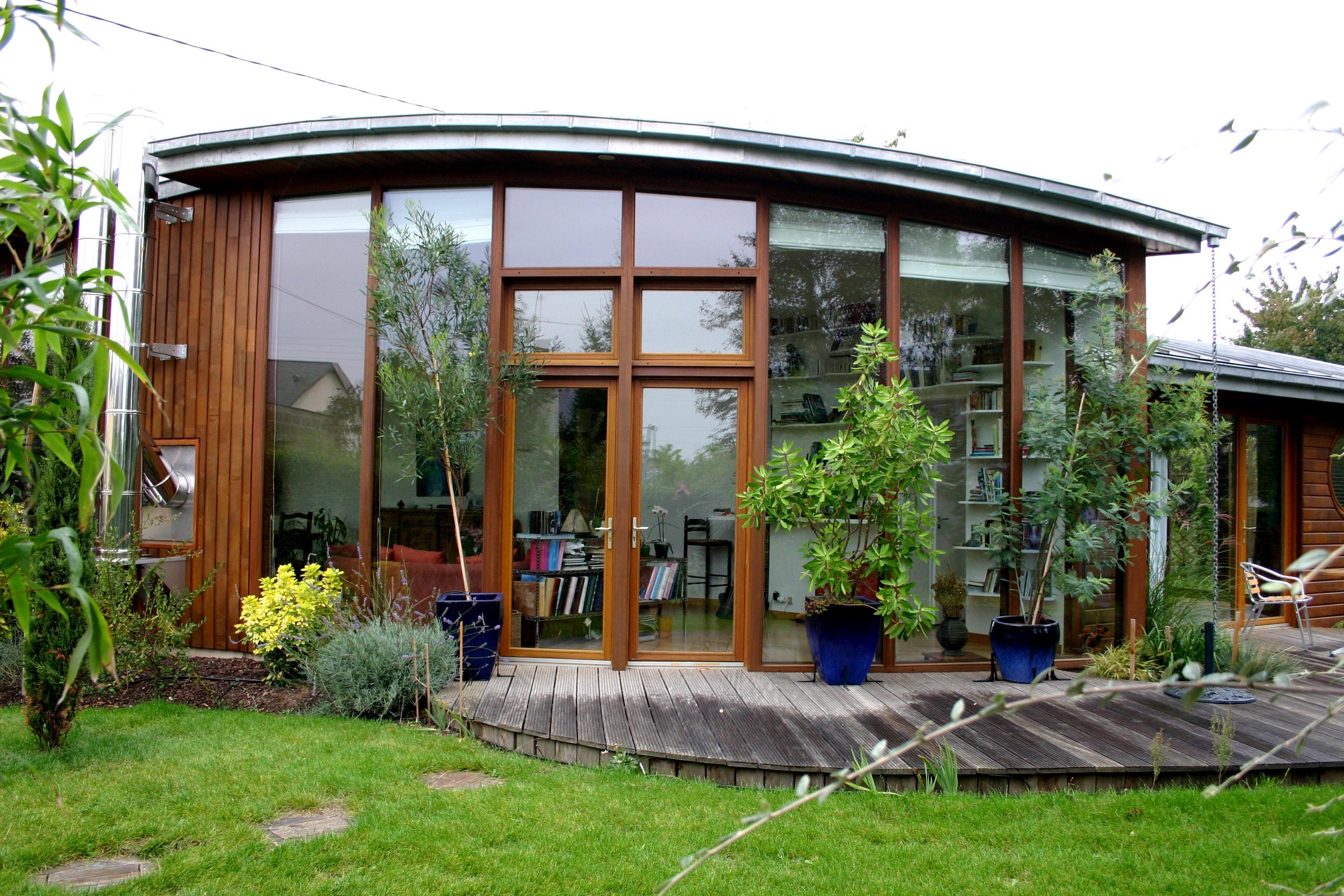Construction maison de plain pied monopente zinc